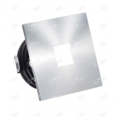 ALSQ032OP/AL/30  - Aluminium Square Low Level Marker Light 1W 3000K
