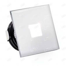 ALSQ032OP/PC/30   - Polished Chrome Square Low Level Marker Light 1W 3000K