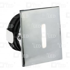 ALSQ032SC/PC/30   -  Polished Chome Square Low Level Marker Light 1W 3000K