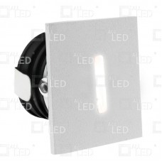 ALSQ032SC/WH/30   - White  Square Low Level Marker Light 1W 3000K