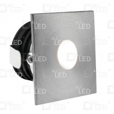 ALSQ032AL/30 - Aluminium Square Low-Level Marker Light 1W 3000K