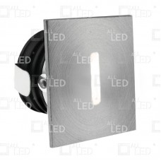 ALSQ032SC/AL/30   - Aluminium Square Low Level Marker Light 1W 3000K
