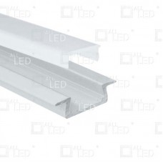 APA003 - Recessed White Painted Aluminium Extrusion for LED Strip